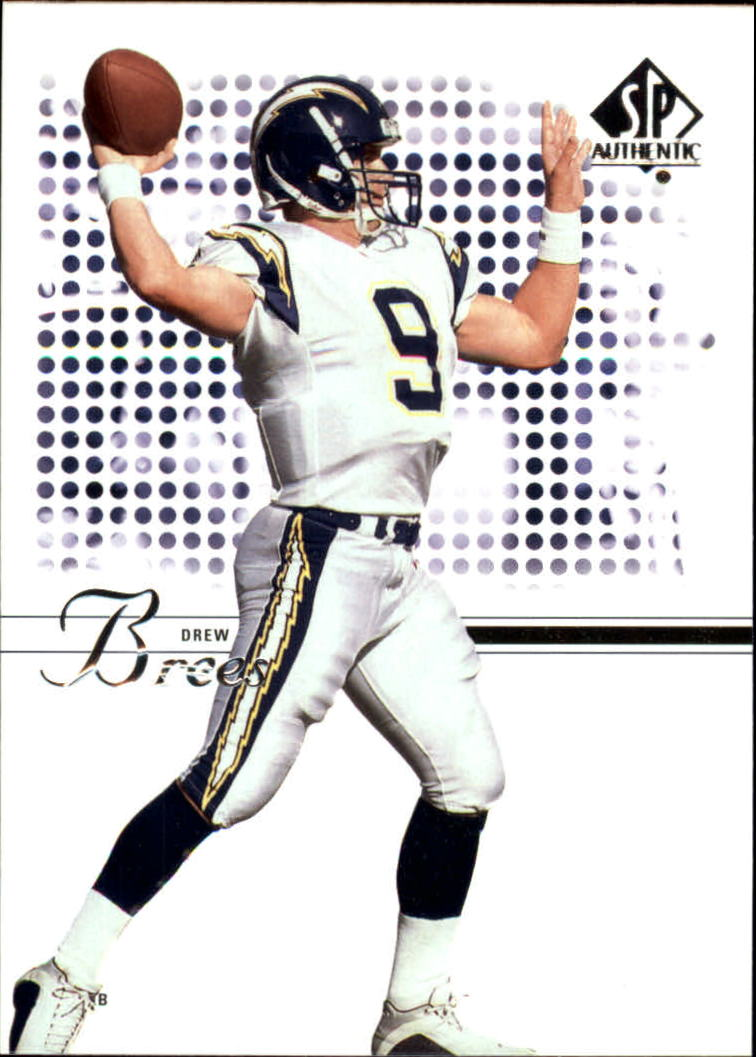 2002 SP Authentic #78 Drew Brees