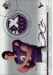 2002 SP Authentic #237 David Carr JSY AU RC
