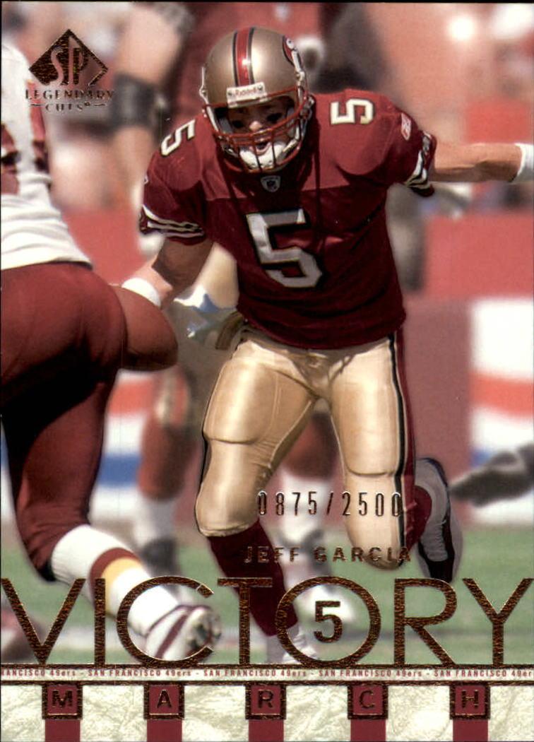 2002 SP Legendary Cuts #98 Jeff Garcia VM
