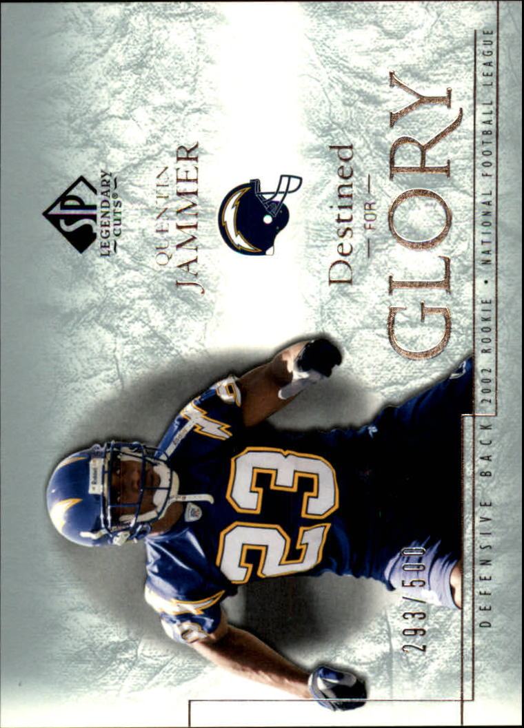 2002 SP Legendary Cuts #142 Quentin Jammer RC