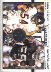 2002 Titanium #113 Brian Urlacher JSY/500/Napoleon Harris RC