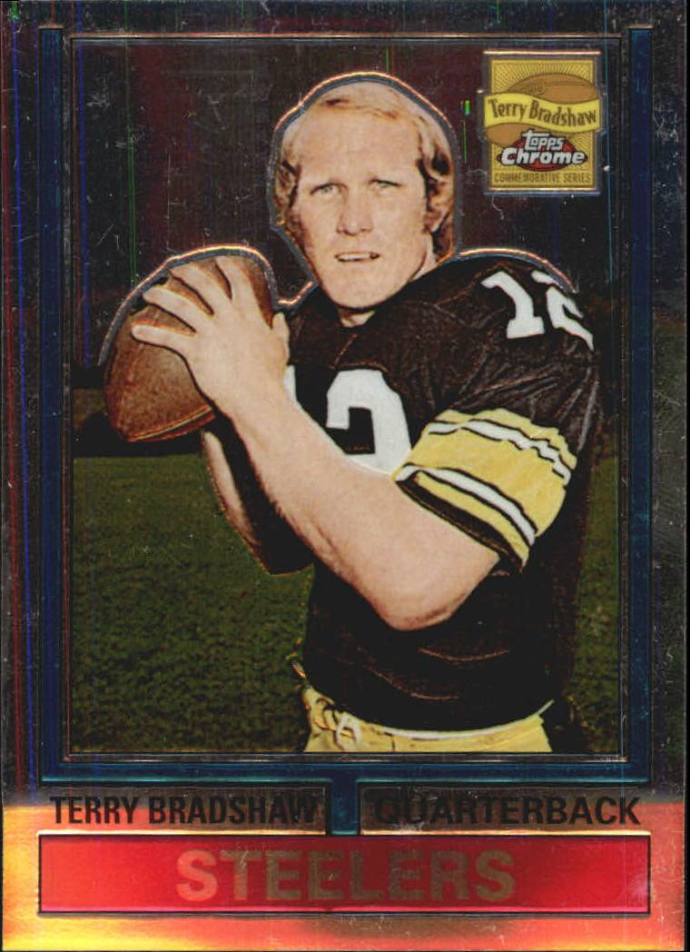 Verzamelkaarten, ruilkaarten 2002 Topps Chrome Reprints #7 Terry Bradshaw Pittsburgh Steelers Football Card