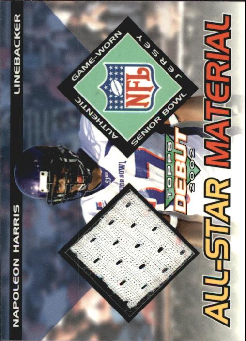 2002 Topps Debut All-Star Materials #AMNH Napoleon Harris