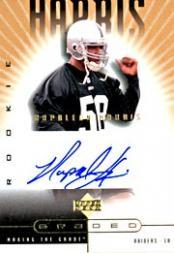 2002 UD Graded Gold #177 Napoleon Harris P AU