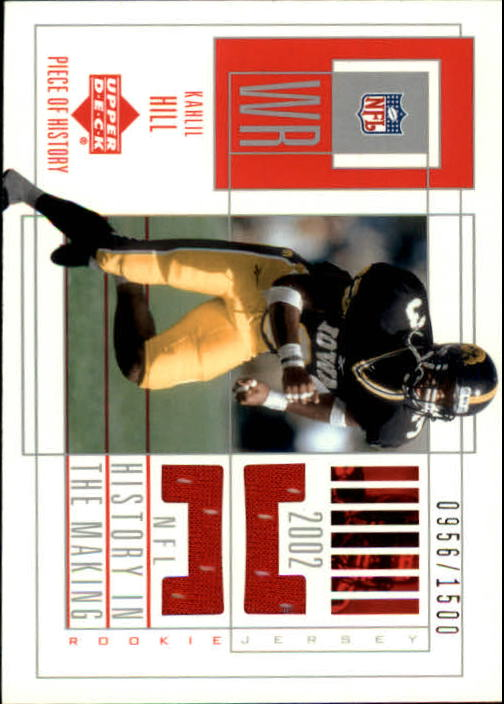 2002 UD Piece of History #151 Kahlil Hill/1500 JSY RC