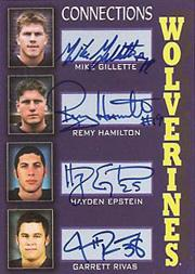 2002-09 Michigan TK Legacy Mates Autographs #MC2 Mike Gillette/100/Remy Hamilton/Hayden Epstein/Garrett Rivas