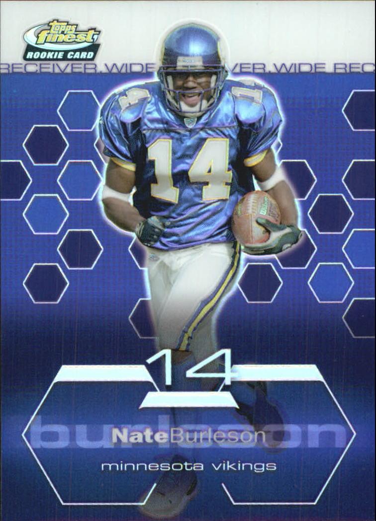 2003 Finest Refractors #82 Nate Burleson