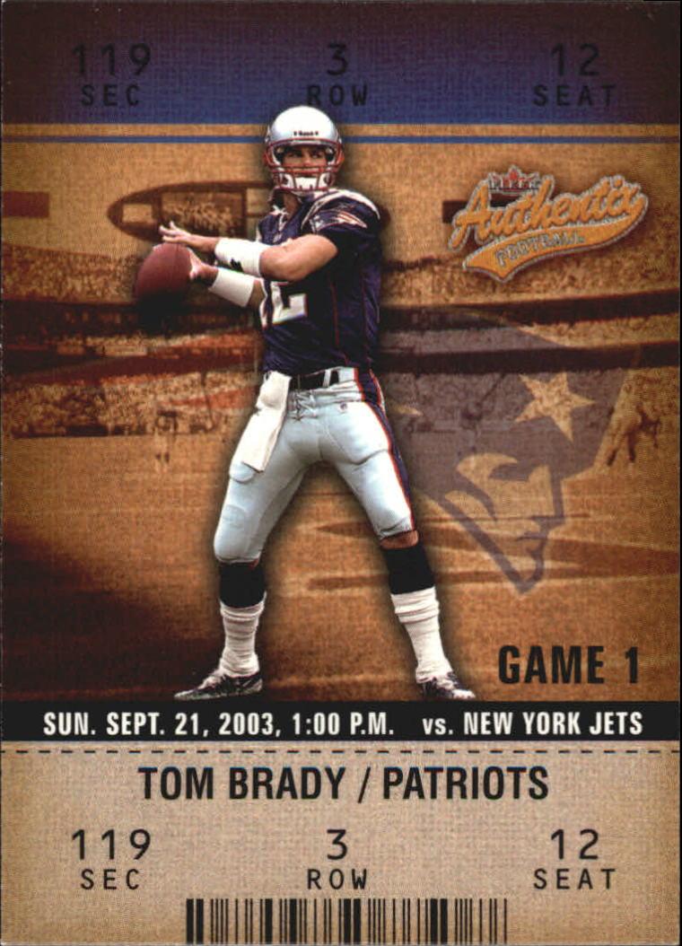 2003 Fleer Authentix #22 Tom Brady