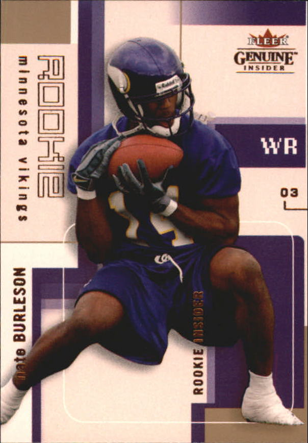 2003 Fleer Genuine Insider #132 Nate Burleson RC
