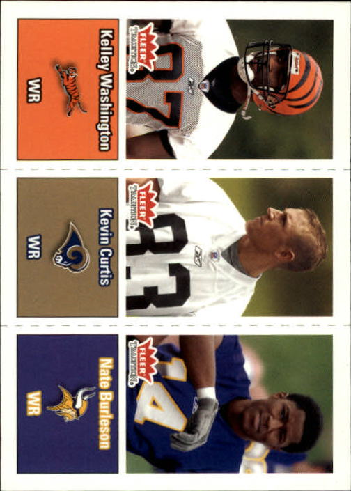 2003 Fleer Tradition #290 Kelley Washington RC/Kevin Curtis RC/Nate Burleson RC