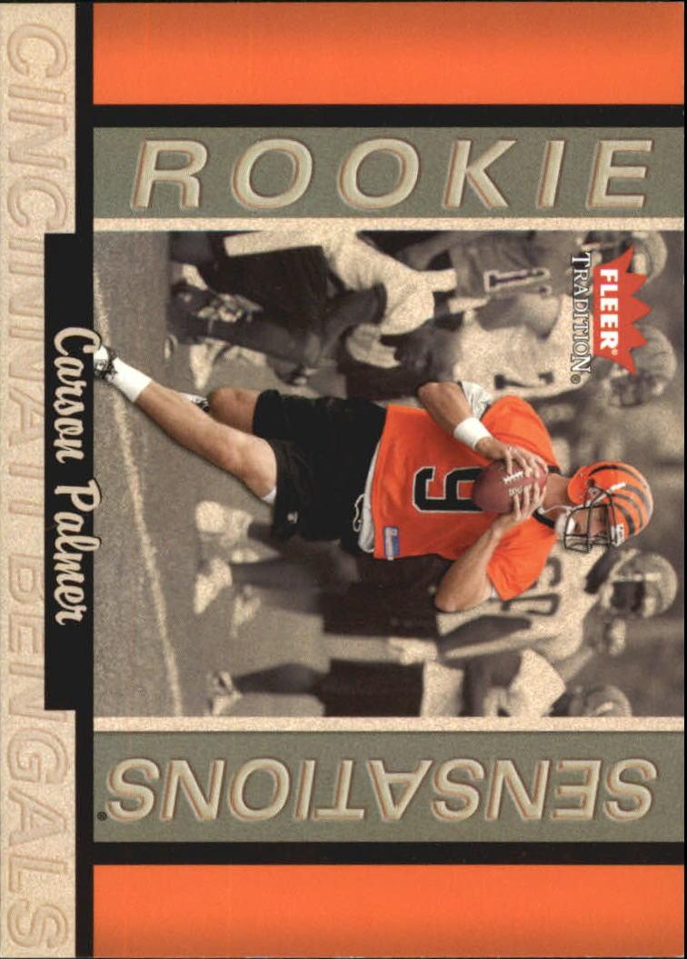 2003 Fleer Tradition Rookie Sensations #5 Carson Palmer