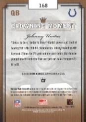2003 Gridiron Kings #168 Johnny Unitas back image