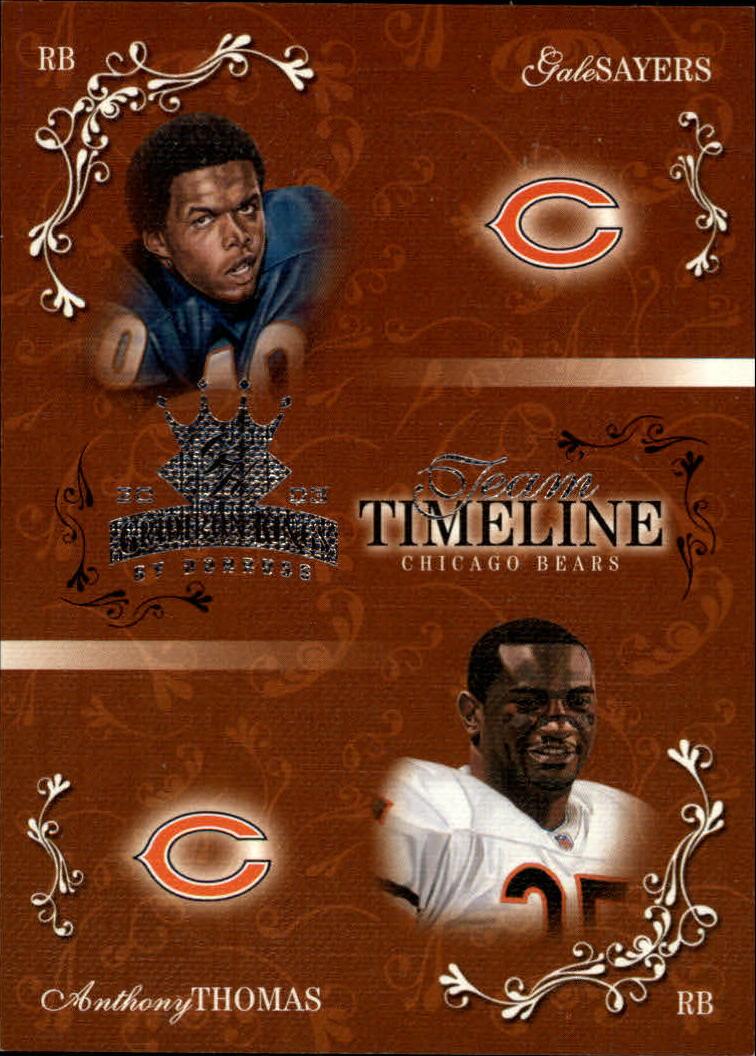 2003 Gridiron Kings Team Timeline #TT5 Gale Sayers/Anthony Thomas