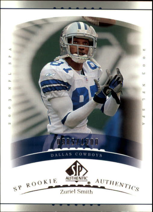 2003 SP Authentic #189 Zuriel Smith RC