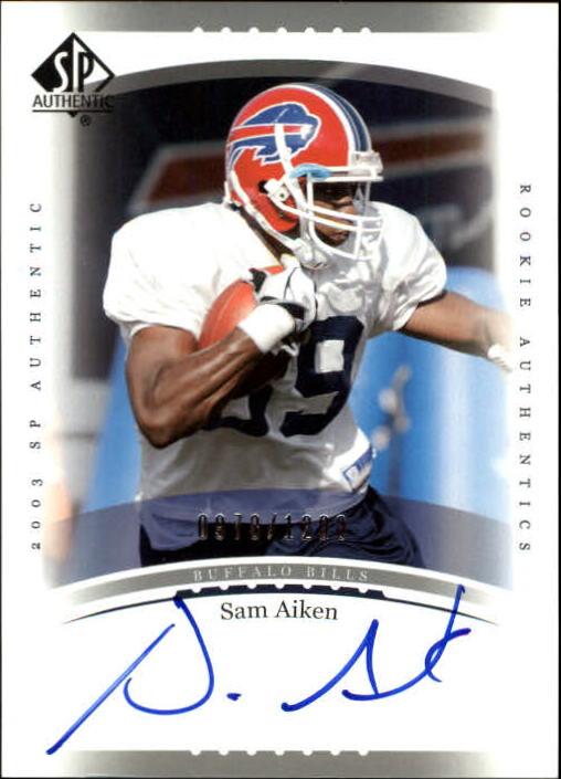 2003 SP Authentic #236 Sam Aiken AU RC