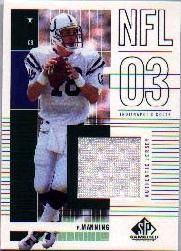 2003 SP Game Used Edition #167 Peyton Manning JSY
