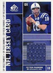 2003 SP Game Used Edition Field Fabrics #PM Peyton Manning
