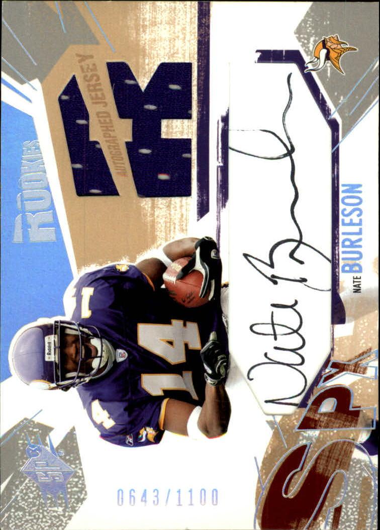 2003 SPx #194 Nate Burleson JSY AU RC