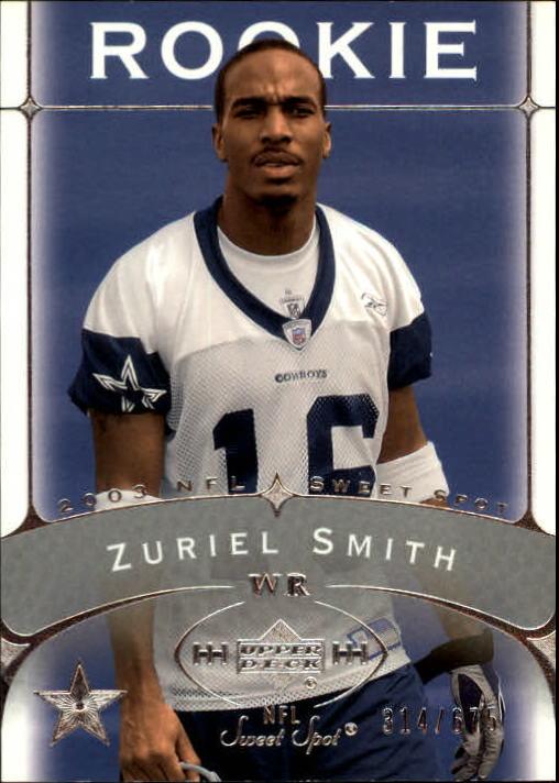 2003 Sweet Spot #185 Zuriel Smith RC