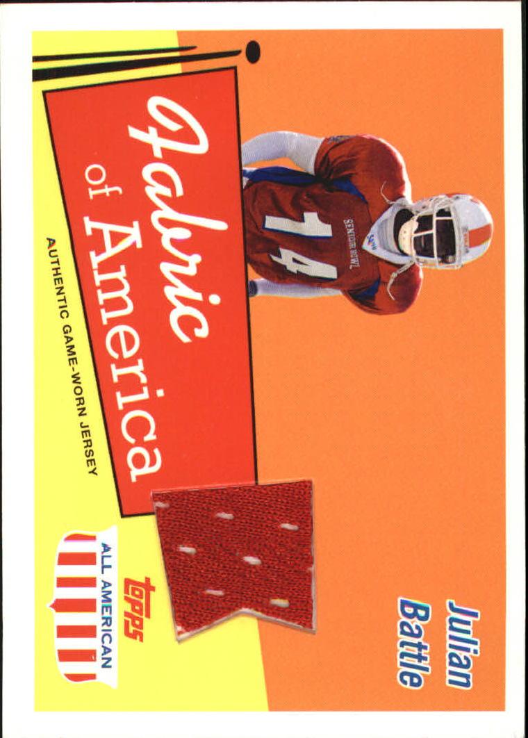2003 Topps All American Fabric of America #FAJB Julian Battle E