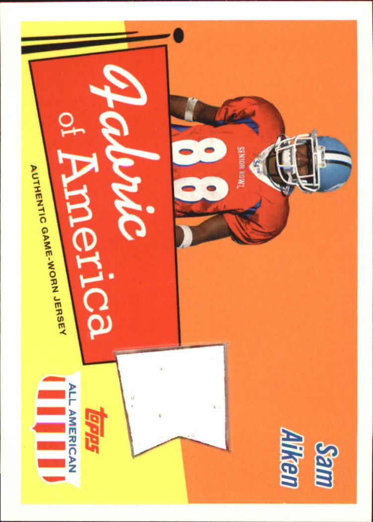 2003 Topps All American Fabric of America #FASA Sam Aiken E