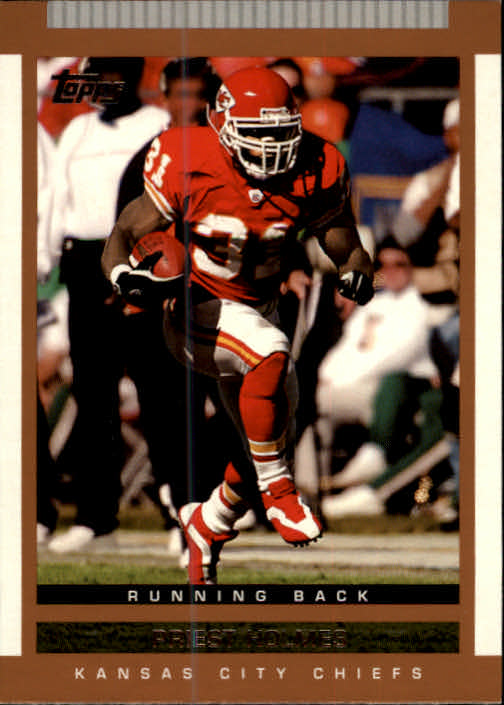 2003 Topps Draft Picks and Prospects #1 Priest Holmes