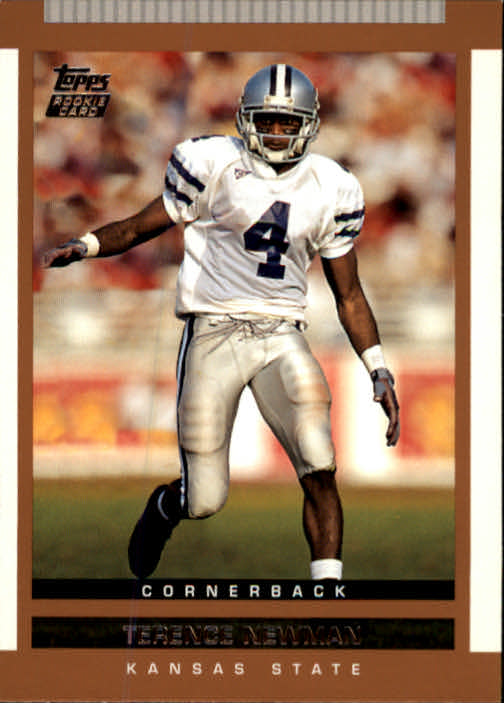 2003 Topps Draft Picks and Prospects #123 Terence Newman RC