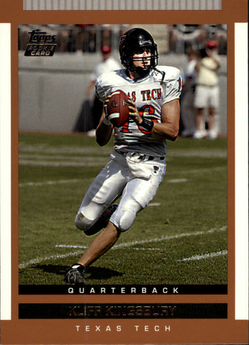 2003 Topps Draft Picks and Prospects #161 Kliff Kingsbury RC
