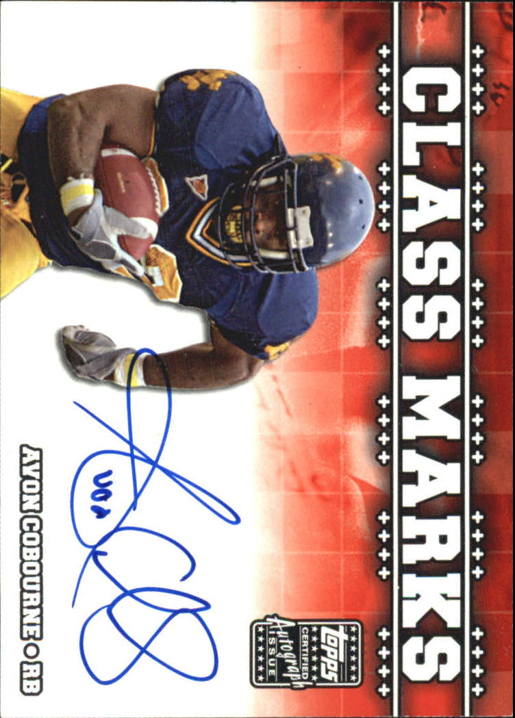 2003 Topps Draft Picks and Prospects Class Marks Autographs #CMAC Avon Cobourne G