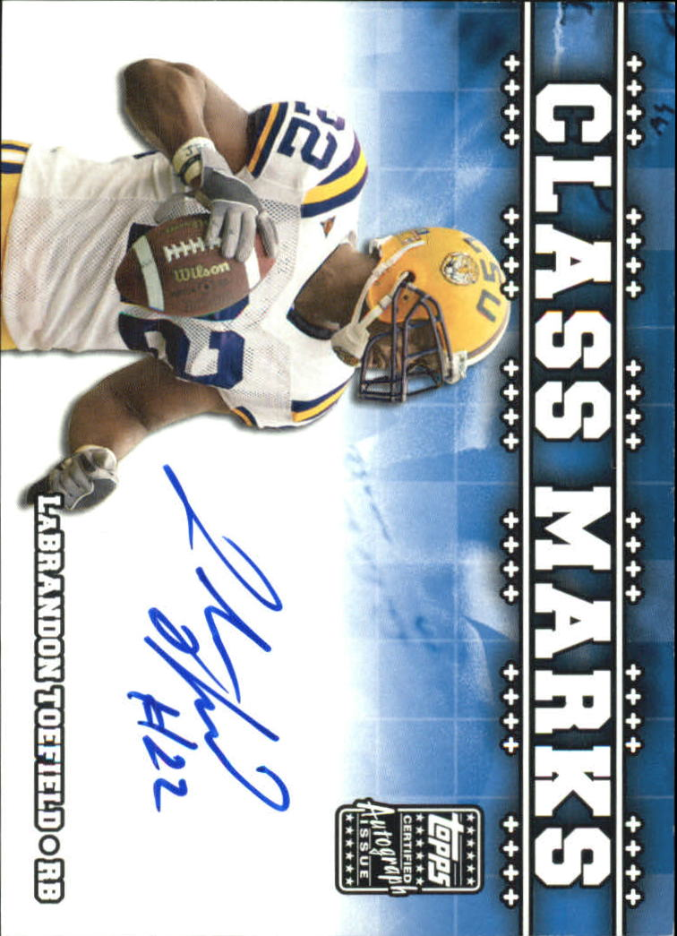 2003 Topps Draft Picks and Prospects Class Marks Autographs #CMLT LaBrandon Toefield G
