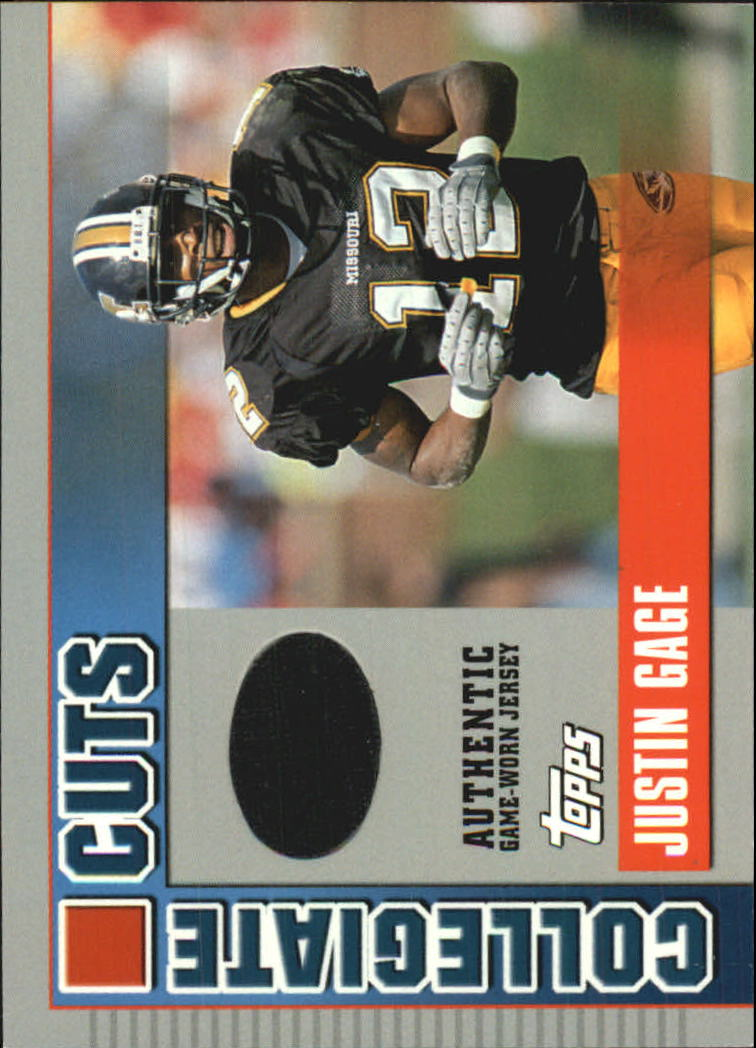 2003 Topps Draft Picks and Prospects Collegiate Cuts #CCJG Justin Gage D