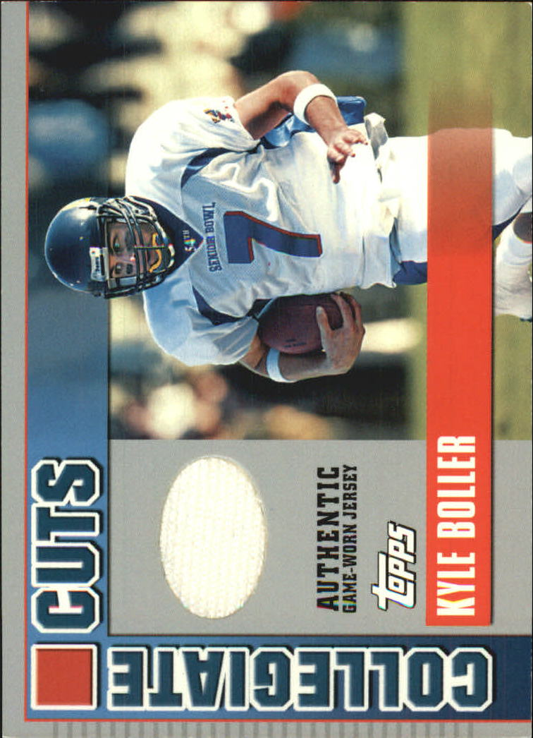 2003 Topps Draft Picks and Prospects Collegiate Cuts #CCKB Kyle Boller H
