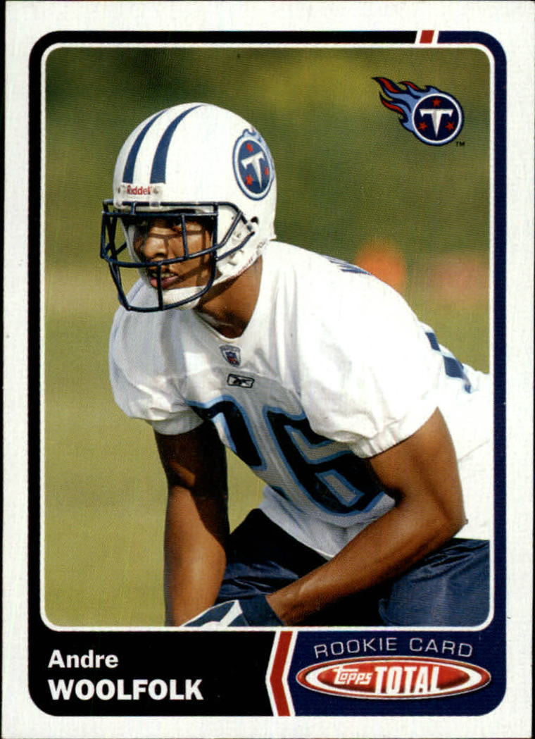 2003 Topps Total #549 Andre Woolfolk RC