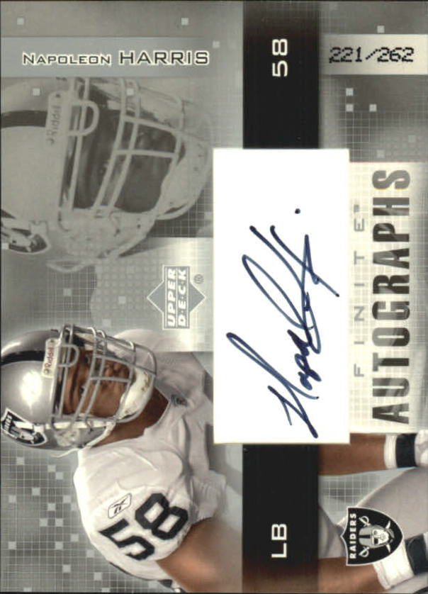 2003 Upper Deck Finite Autographs #NH Napoleon Harris/262