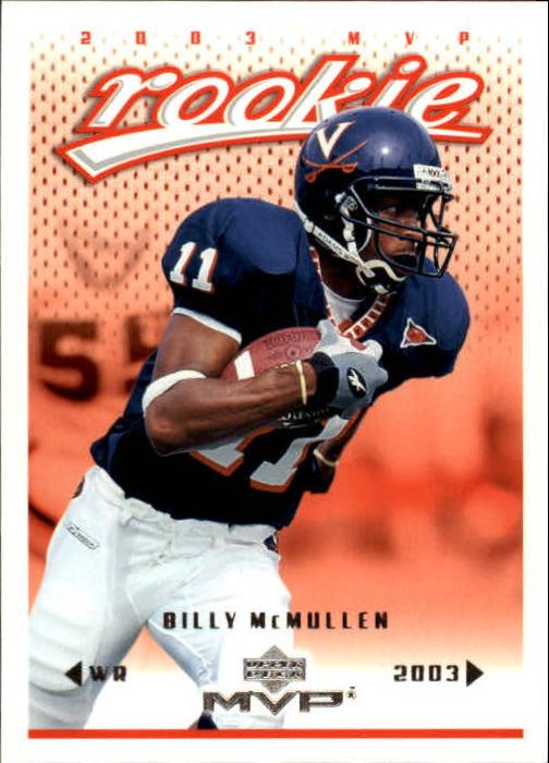 2003 Upper Deck MVP #382 Billy McMullen RC
