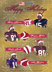 2003 Donruss/Playoff Holiday Cards Quads #HH4 Andre Johnson/Anquan Boldin/Taylor Jacobs/Nate Burleson