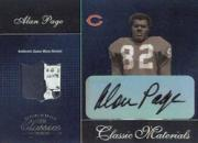 2003 Donruss Classics Classic Materials Autographs #CM1 Alan Page/100