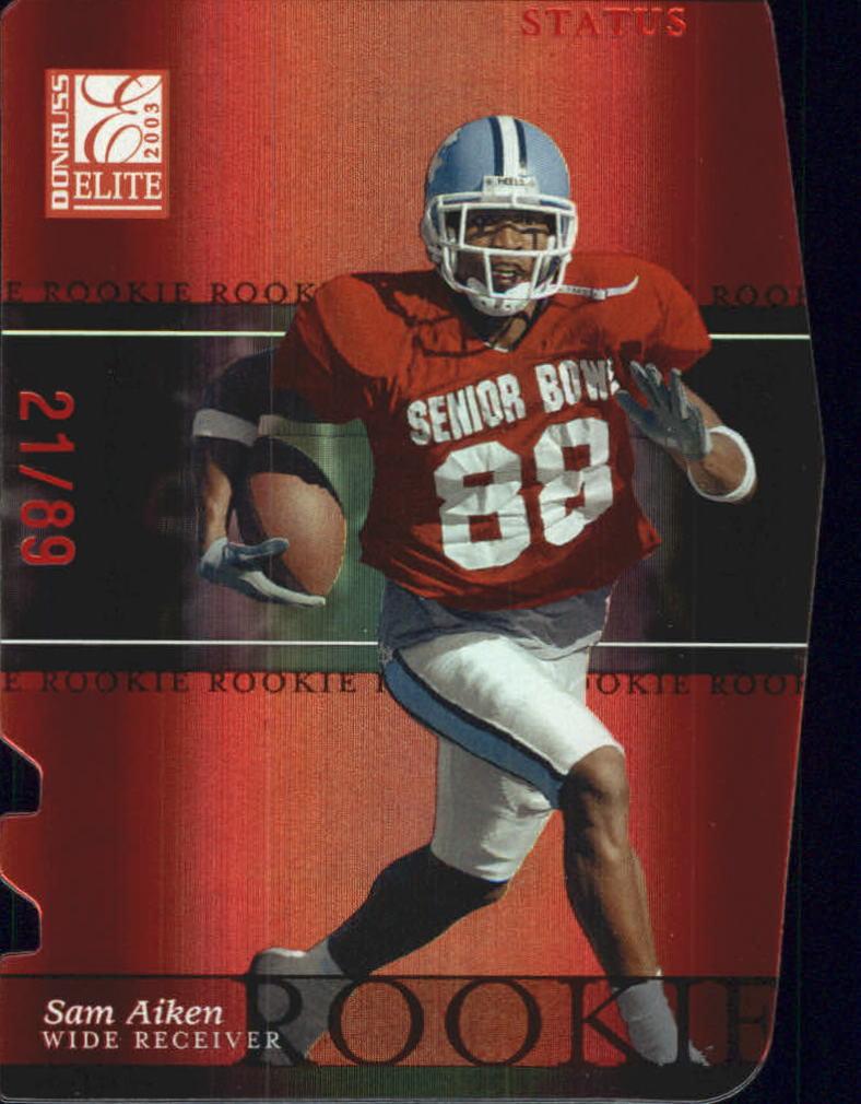 2003 Donruss Elite Status #145 Sam Aiken/89