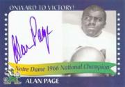 2003-07 Notre Dame TK Legacy National Champions Autographs #1966A Alan Page 1