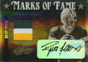 2004 Absolute Memorabilia Marks of Fame Material Prime #MOF3 Brett Favre AU