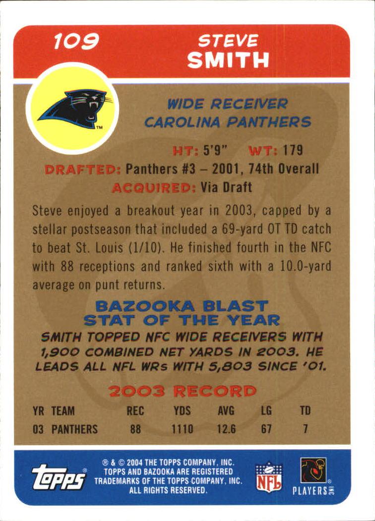 2004 Bazooka Gold #109 Steve Smith back image