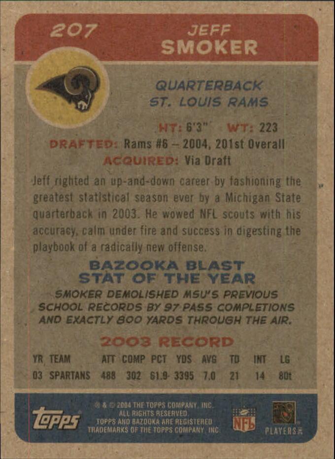 2004 Bazooka Minis #207 Jeff Smoker back image