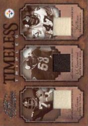 2004 Donruss Classics Timeless Triples Jerseys #TT13 Joe Greene/L.C. Greenwood/Mel Blount