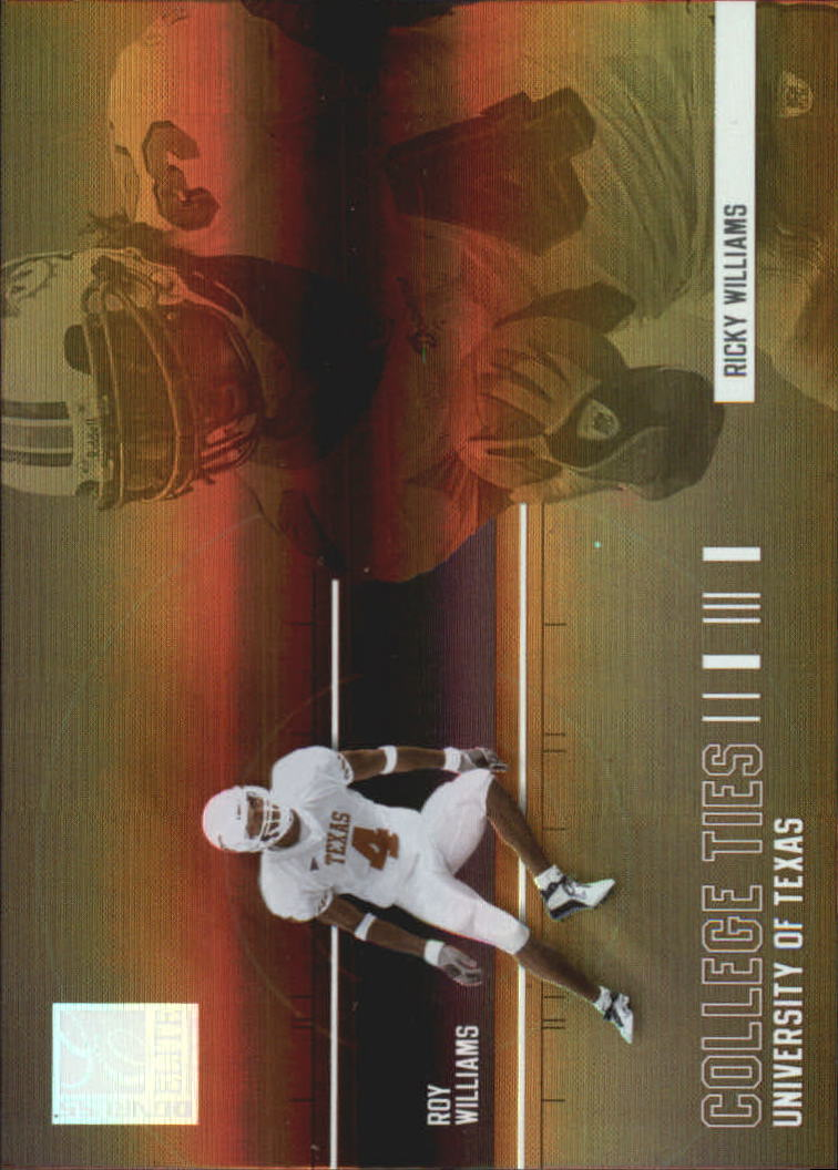 2004 Donruss Elite College Ties #CT6 Ricky Williams/Roy Williams WR