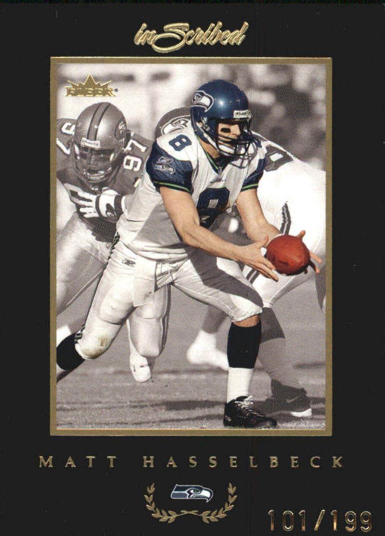 2004 Fleer Inscribed Black Border Gold #23 Matt Hasselbeck