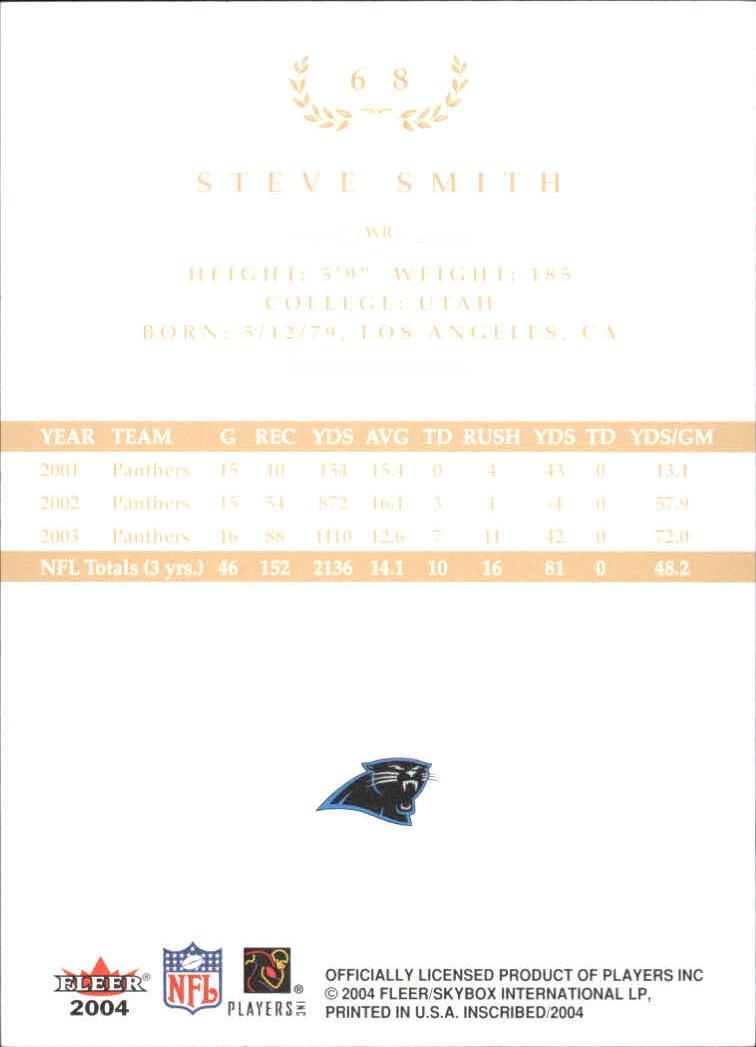 2004 Fleer Inscribed Black Border Gold #68 Steve Smith back image