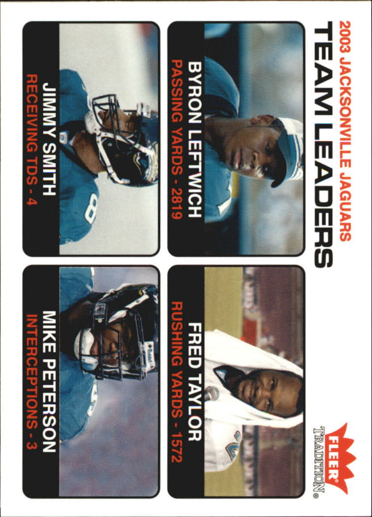 2004 Fleer Tradition #6 Byron Leftwich TL/Fred Taylor/Jimmy Smith/Mike Peterson