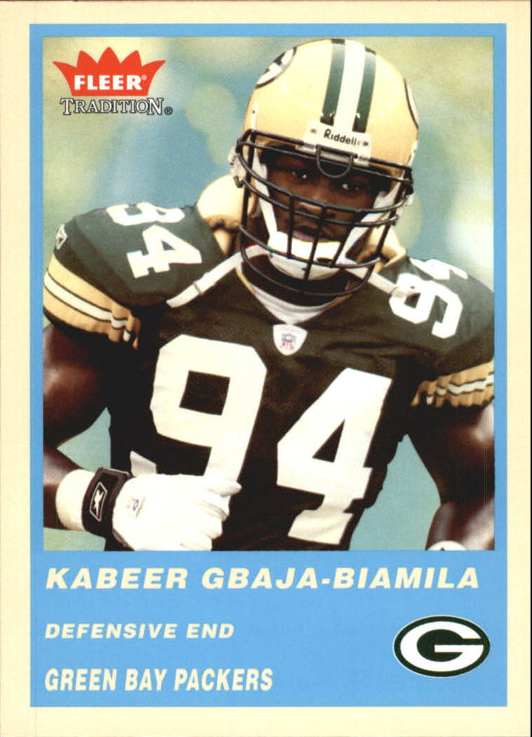 2004 Fleer Tradition Blue #205 Kabeer Gbaja-Biamila