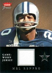 2004 Greats of the Game Glory of Their Time Game Used Silver #MF Mel Renfro