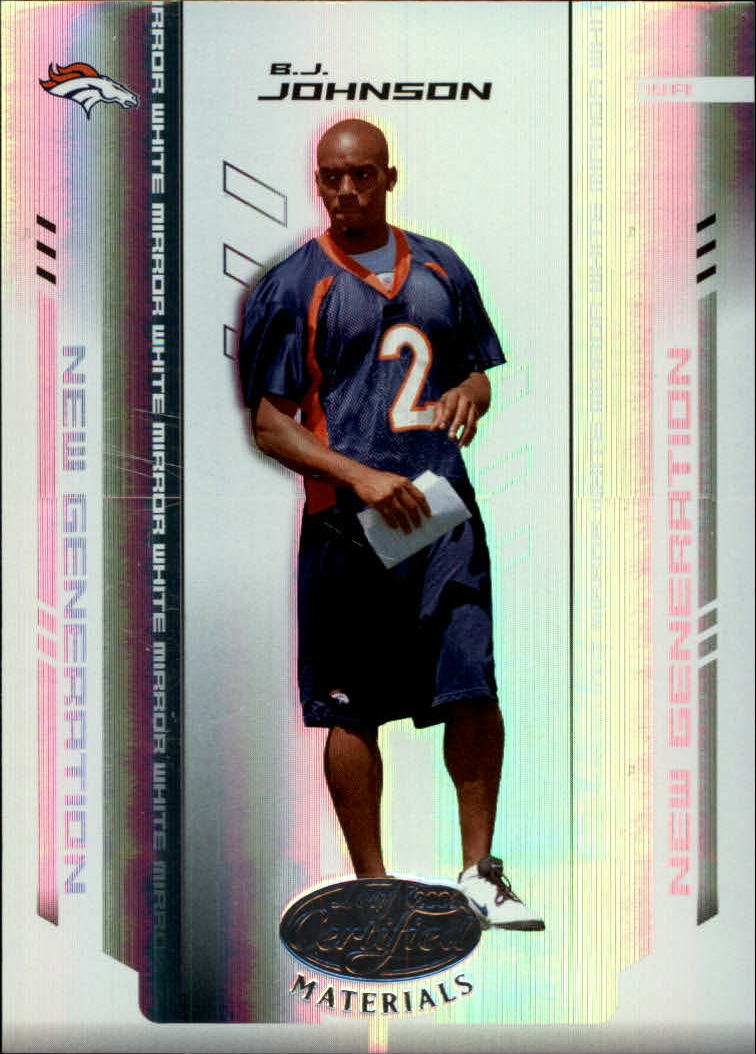2004 Leaf Certified Materials Mirror White #154 B.J. Johnson